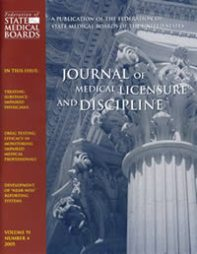 Journal of Medical Licensure and Discipline